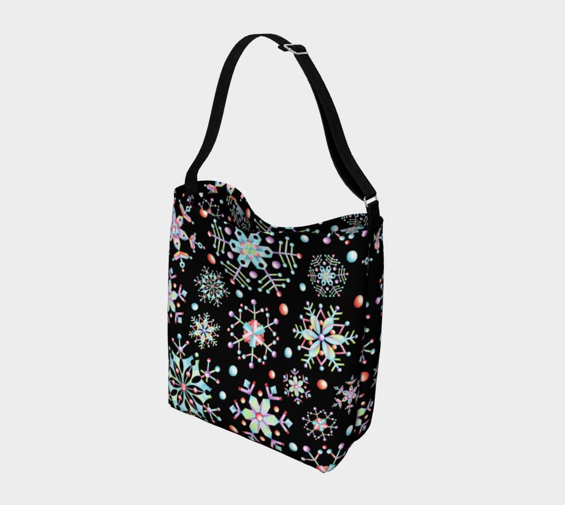 Aperçu de Prismatic Snowflakes Neoprene Tote Bag #2