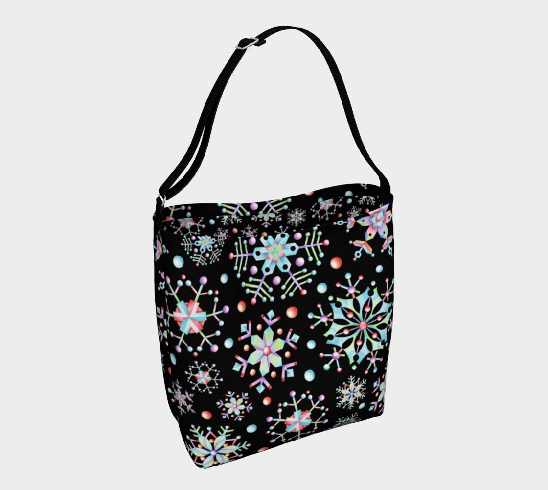 Aperçu de Prismatic Snowflakes Neoprene Tote Bag #1