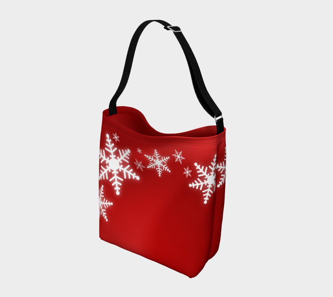 Aperçu de Christmas Snowflakes Red White #2