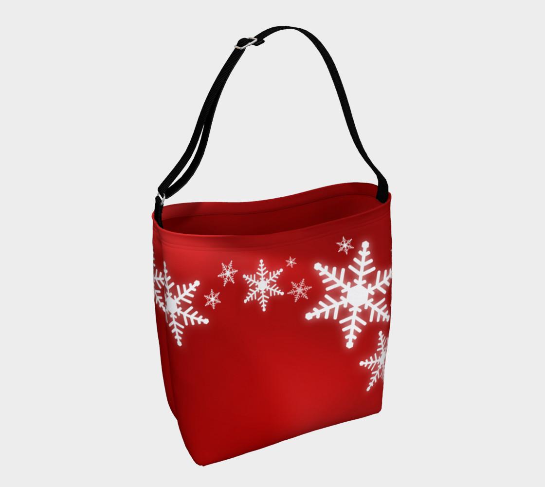 Aperçu de Christmas Snowflakes Red White #1
