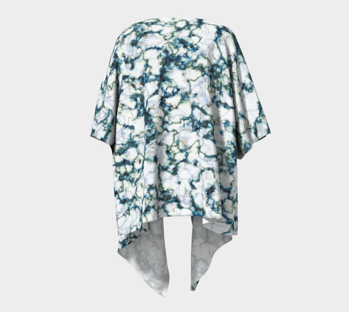 Blue Marble Draped Kimono preview #4