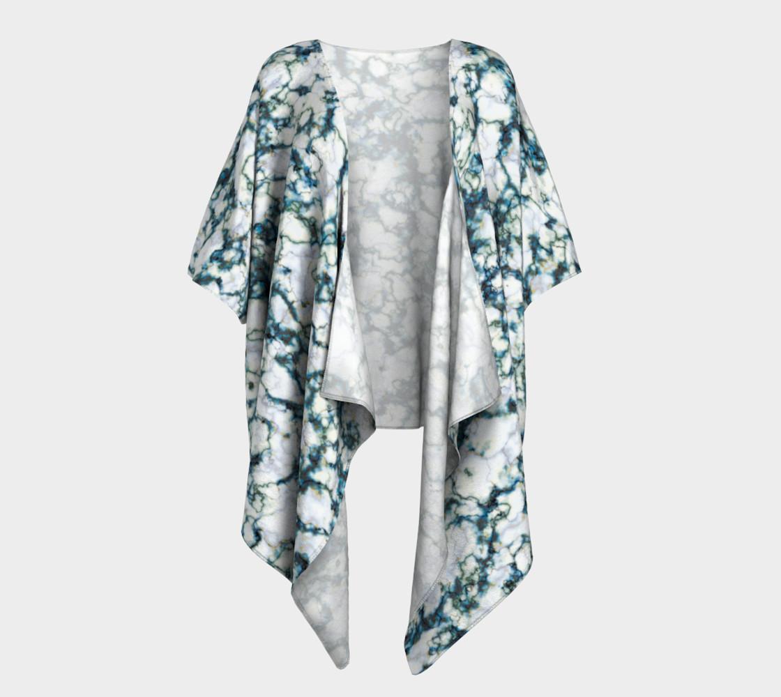 Blue Marble Draped Kimono preview #1