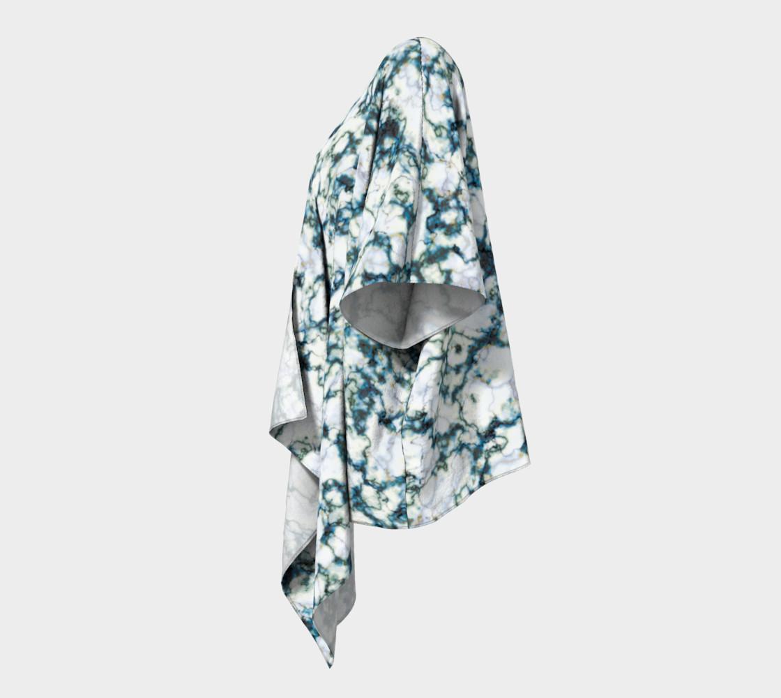 Blue Marble Draped Kimono preview #2