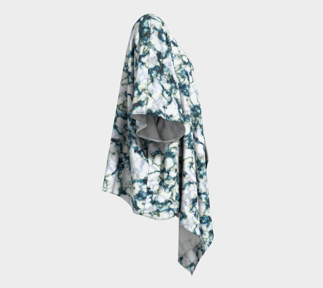 Blue Marble Draped Kimono preview #3