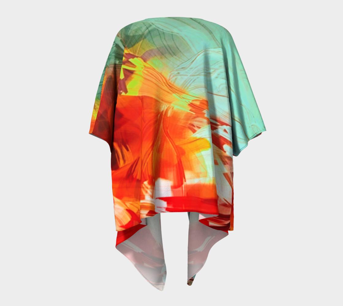 Painted Draped Kimono preview #4