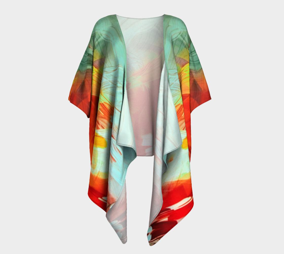 Painted Draped Kimono preview #1
