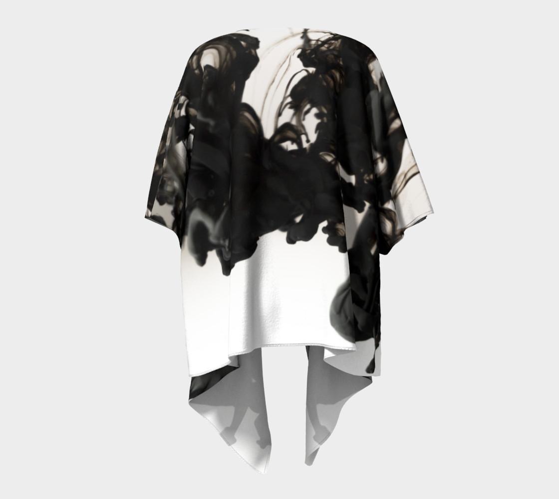 Black Ink Draped Kimono preview #4