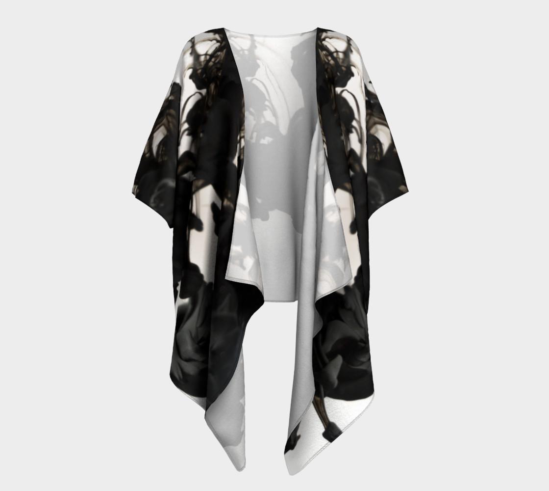Black Ink Draped Kimono preview #1