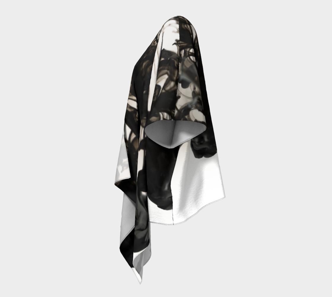 Black Ink Draped Kimono preview #2