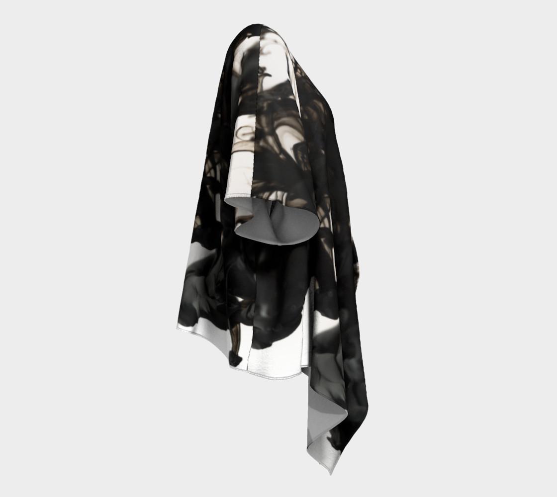 Black Ink Draped Kimono preview #3