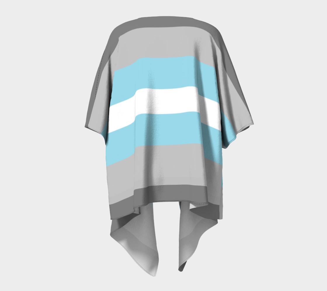 Demiboy LGBT Draped Kimono robe preview #4