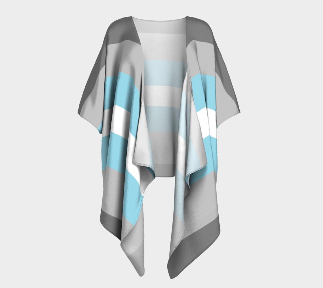 Demiboy LGBT Draped Kimono robe preview #1