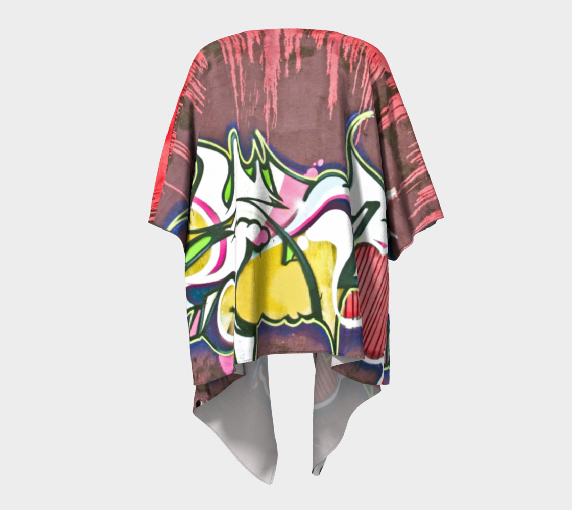 Grafitti draped kimono preview #4
