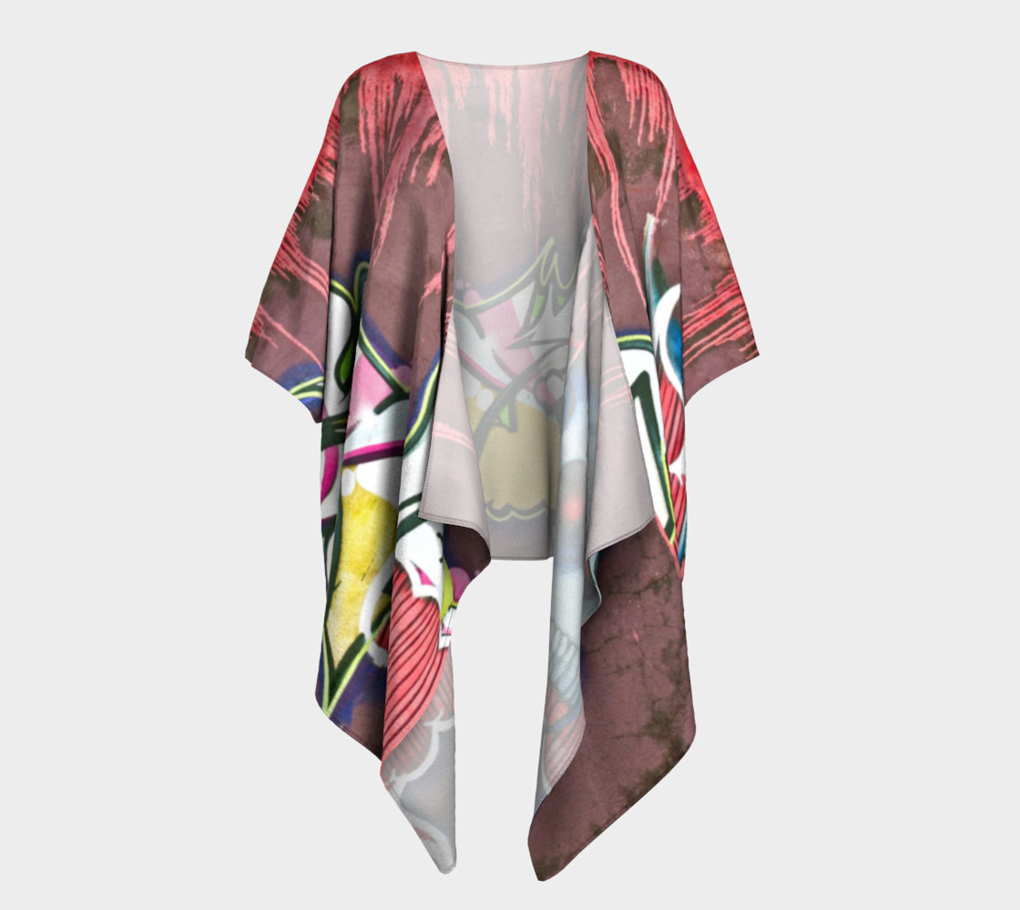 Grafitti draped kimono preview #1