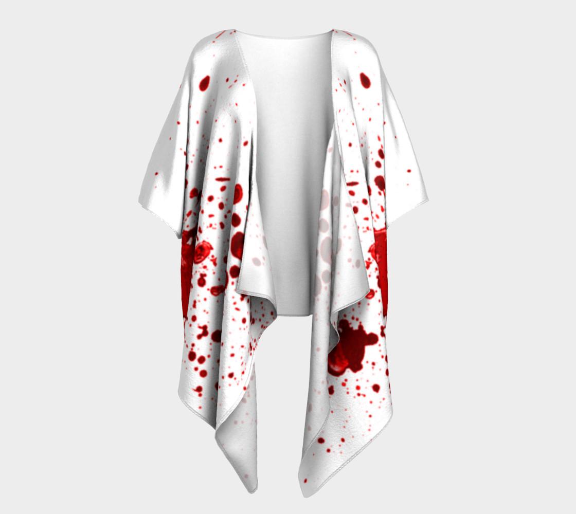 Blood Splatter One Draped Kimono preview #1