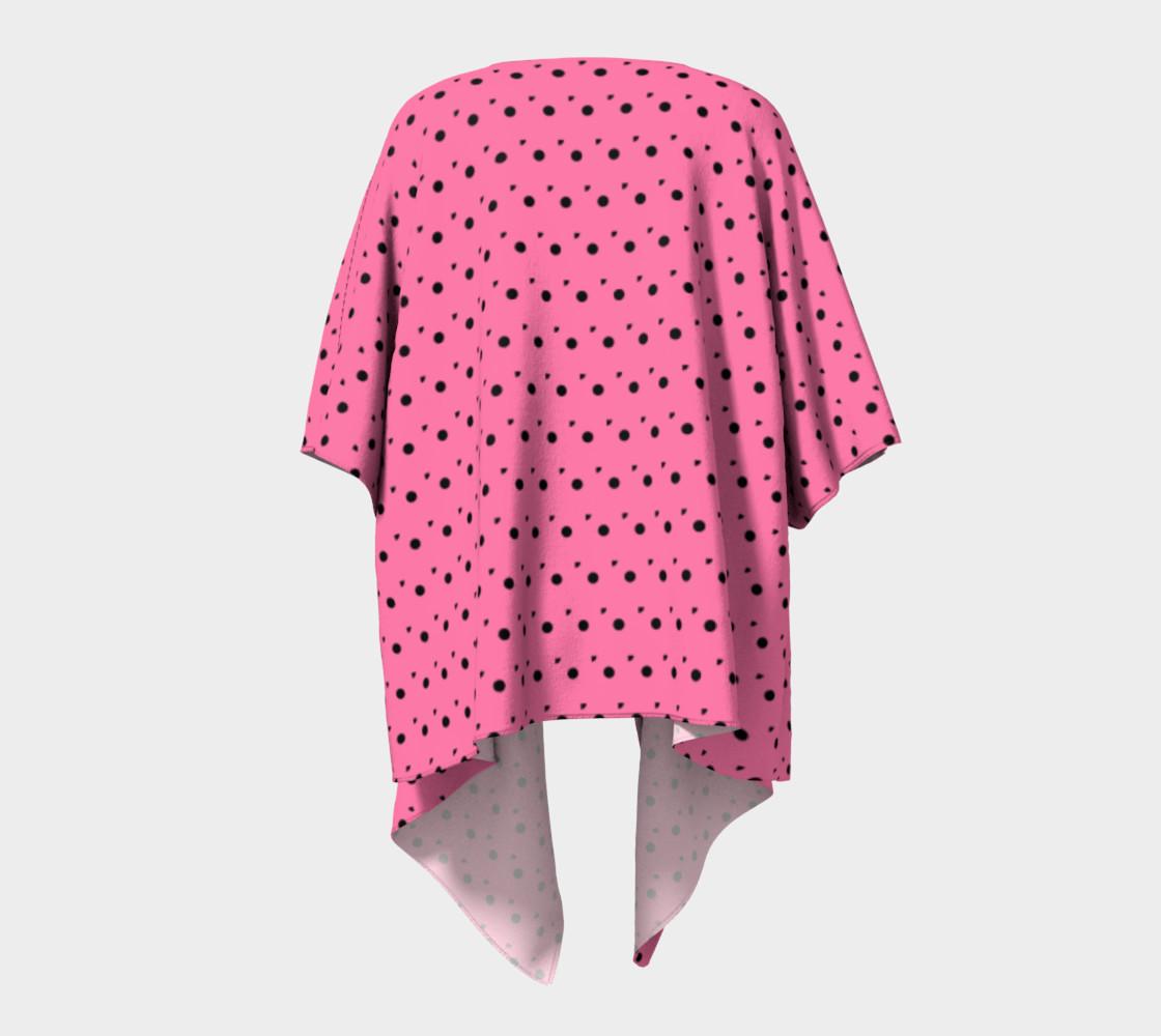 Aperçu de Tracks Bubble Gum Draped Kimono #4