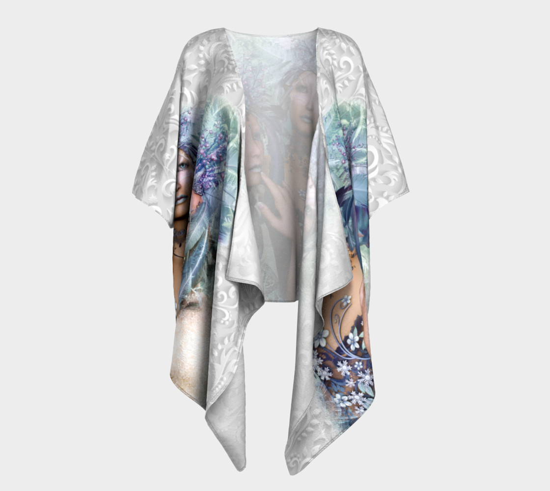 Aperçu 3D de Elves Soul Sisters  Warrior Princesses Draped Kimono