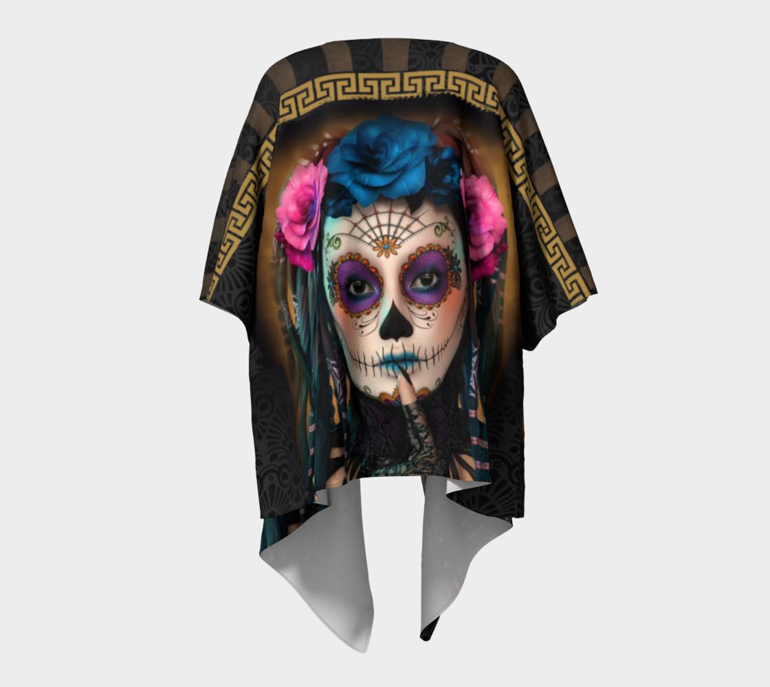Aperçu de Sugar Skull Yoga Draped Kimono  #4