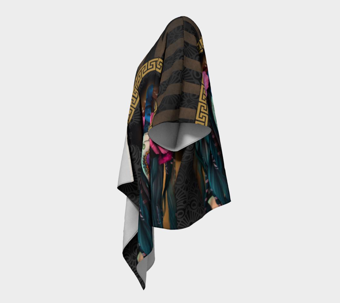 Aperçu de Sugar Skull Yoga Draped Kimono  #2