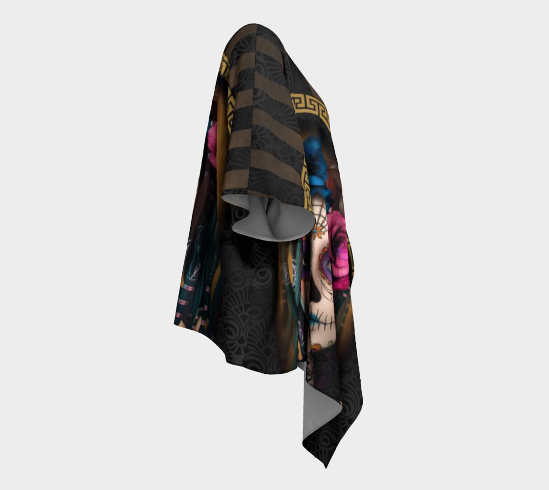 Aperçu de Sugar Skull Yoga Draped Kimono  #3