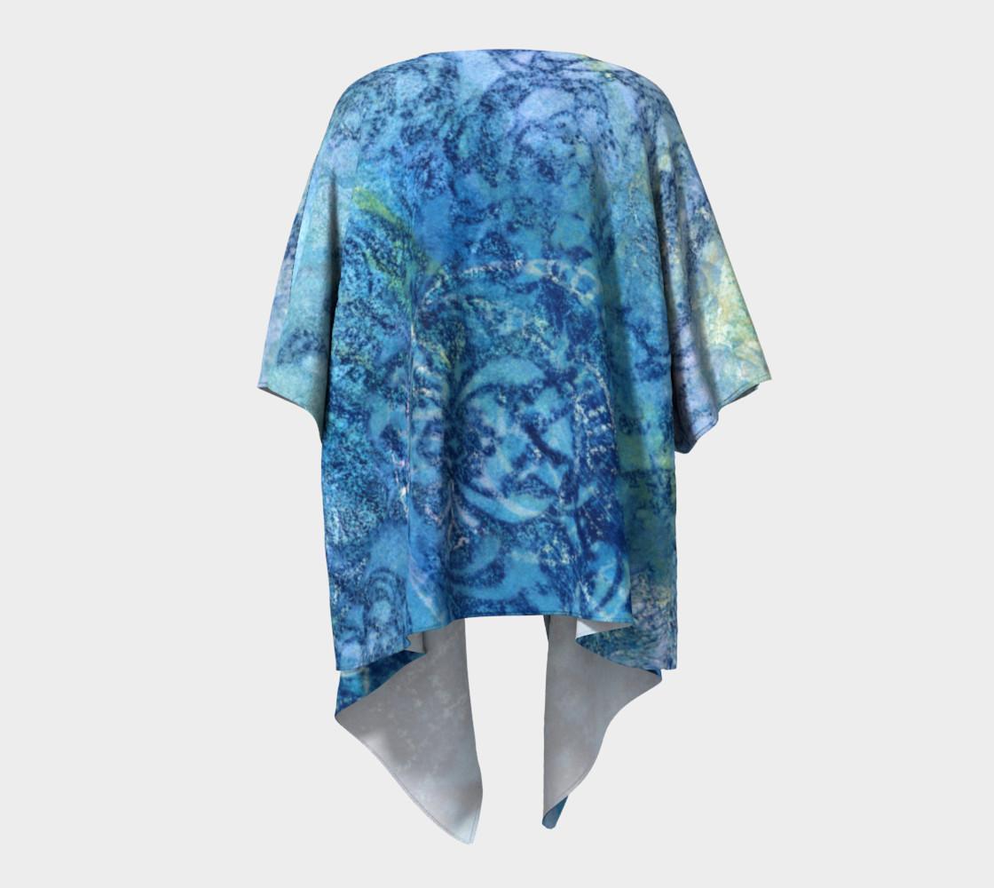 Gathering Blue Draped Kimono preview #4