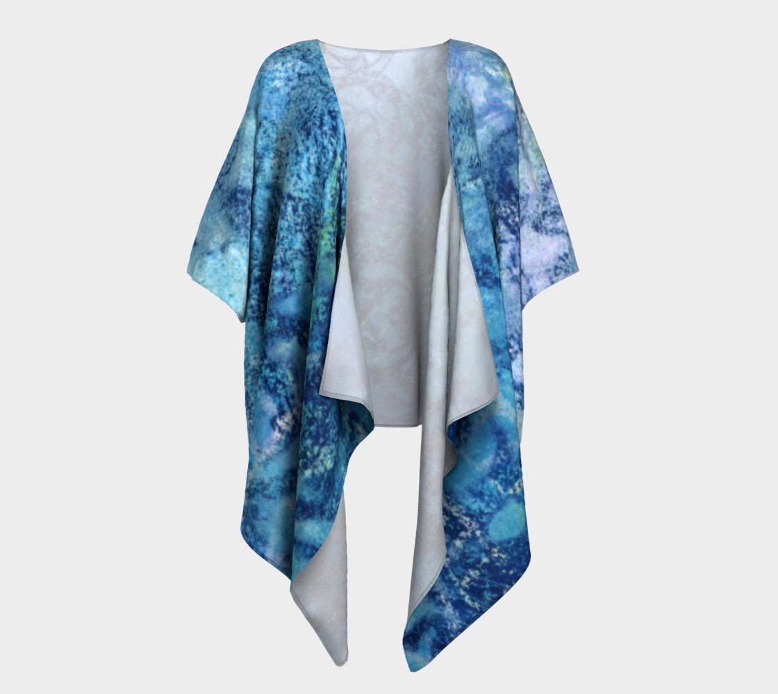 Aperçu de Gathering Blue Draped Kimono #1