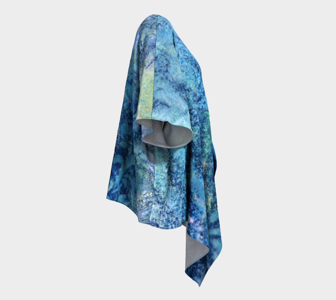 Gathering Blue Draped Kimono preview #3