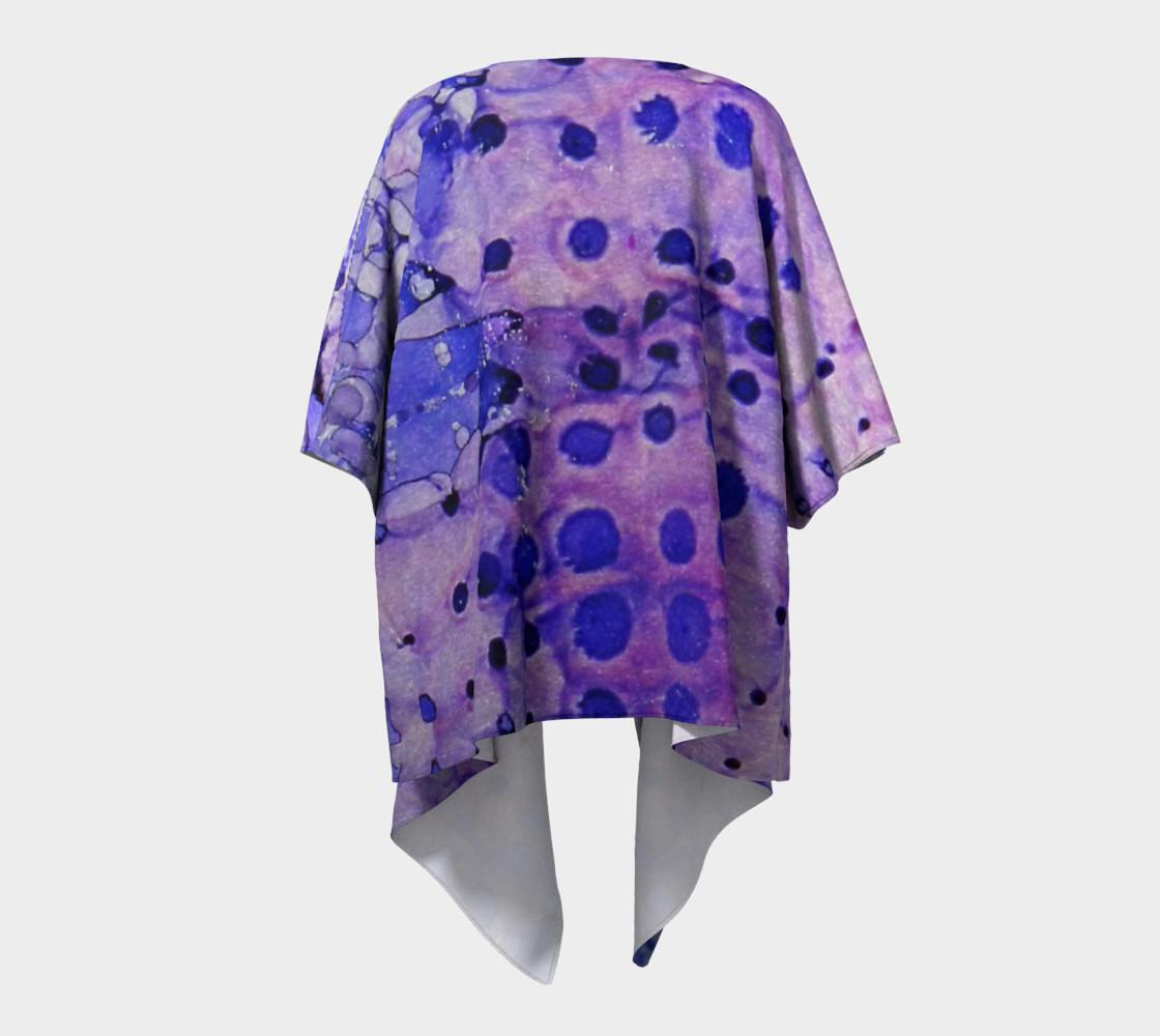 Purple Grid Ink #2 Draped Kimono preview #4