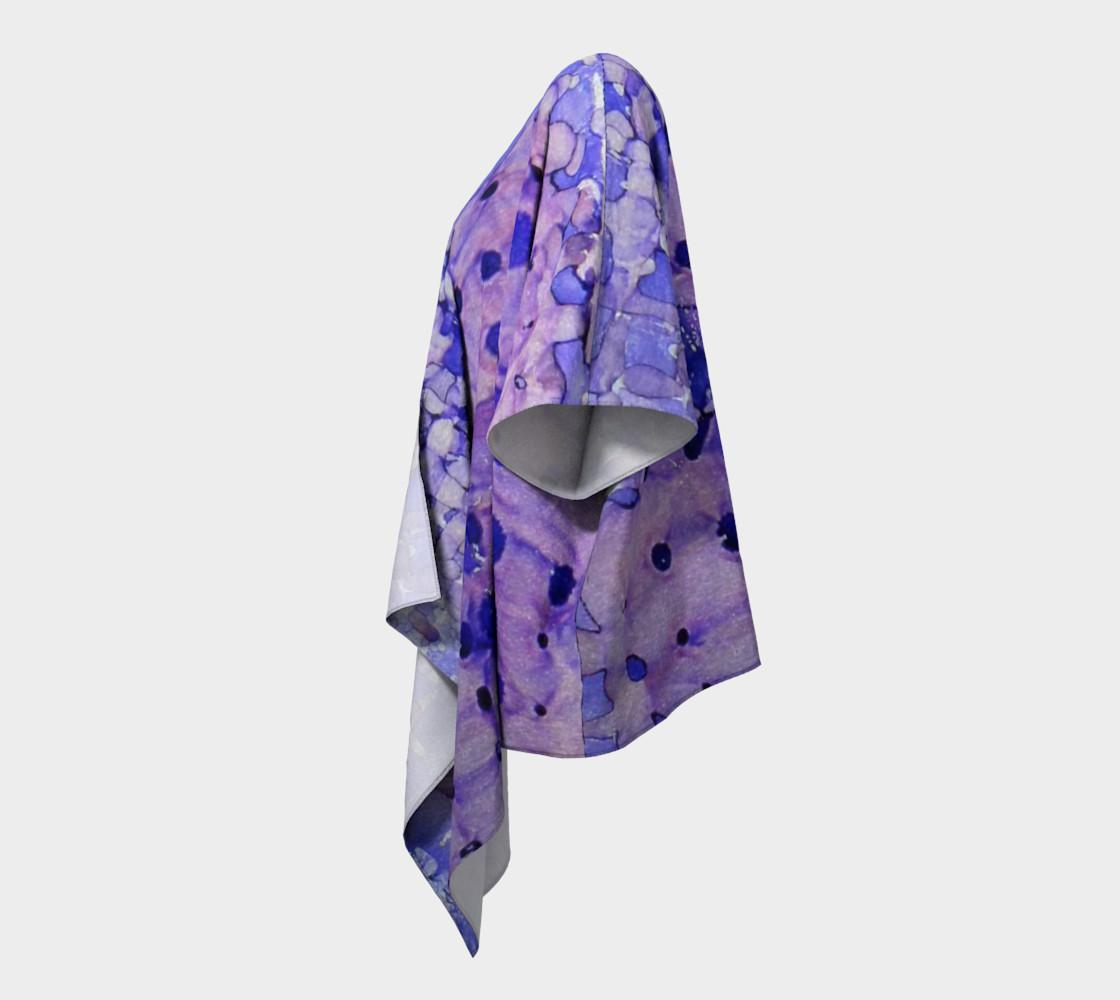 Purple Grid Ink #2 Draped Kimono preview #2