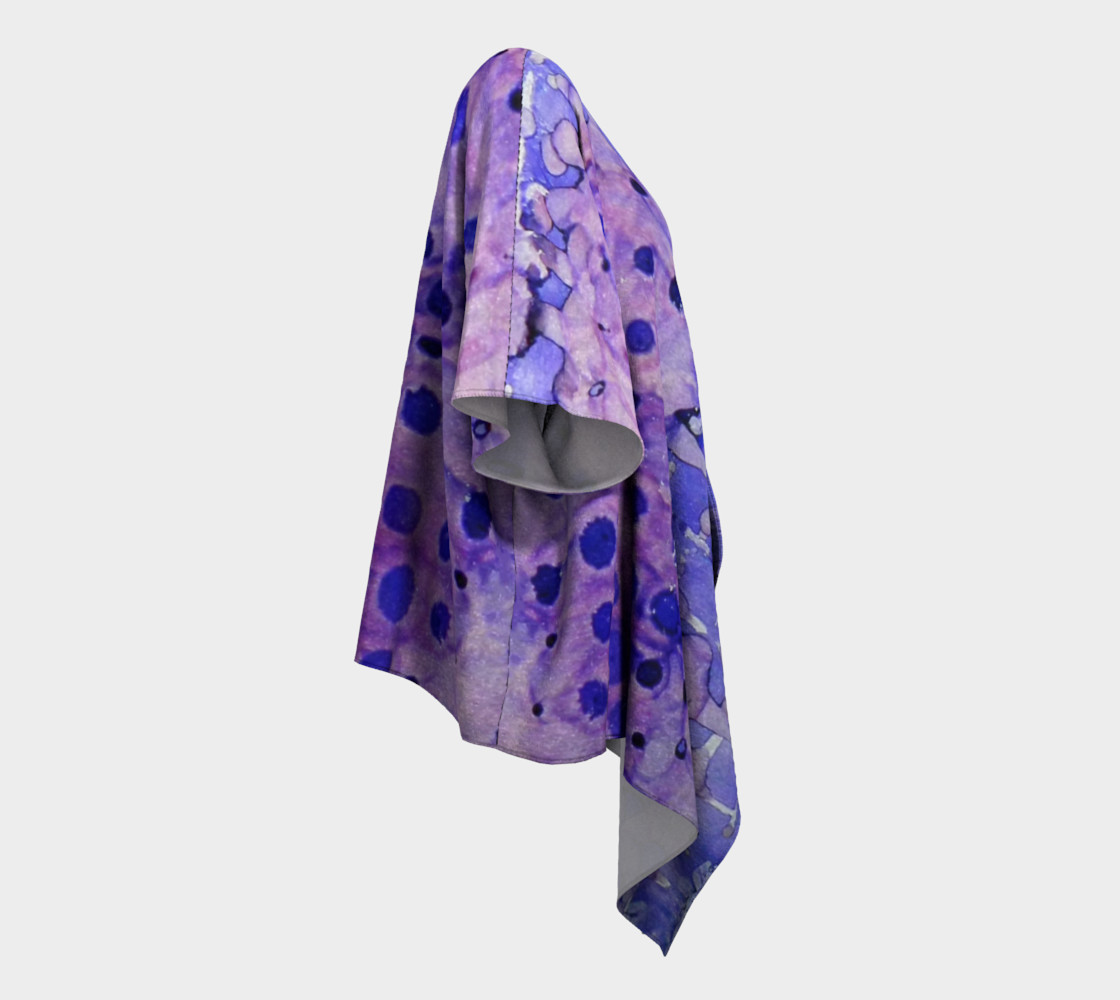 Purple Grid Ink #2 Draped Kimono preview #3
