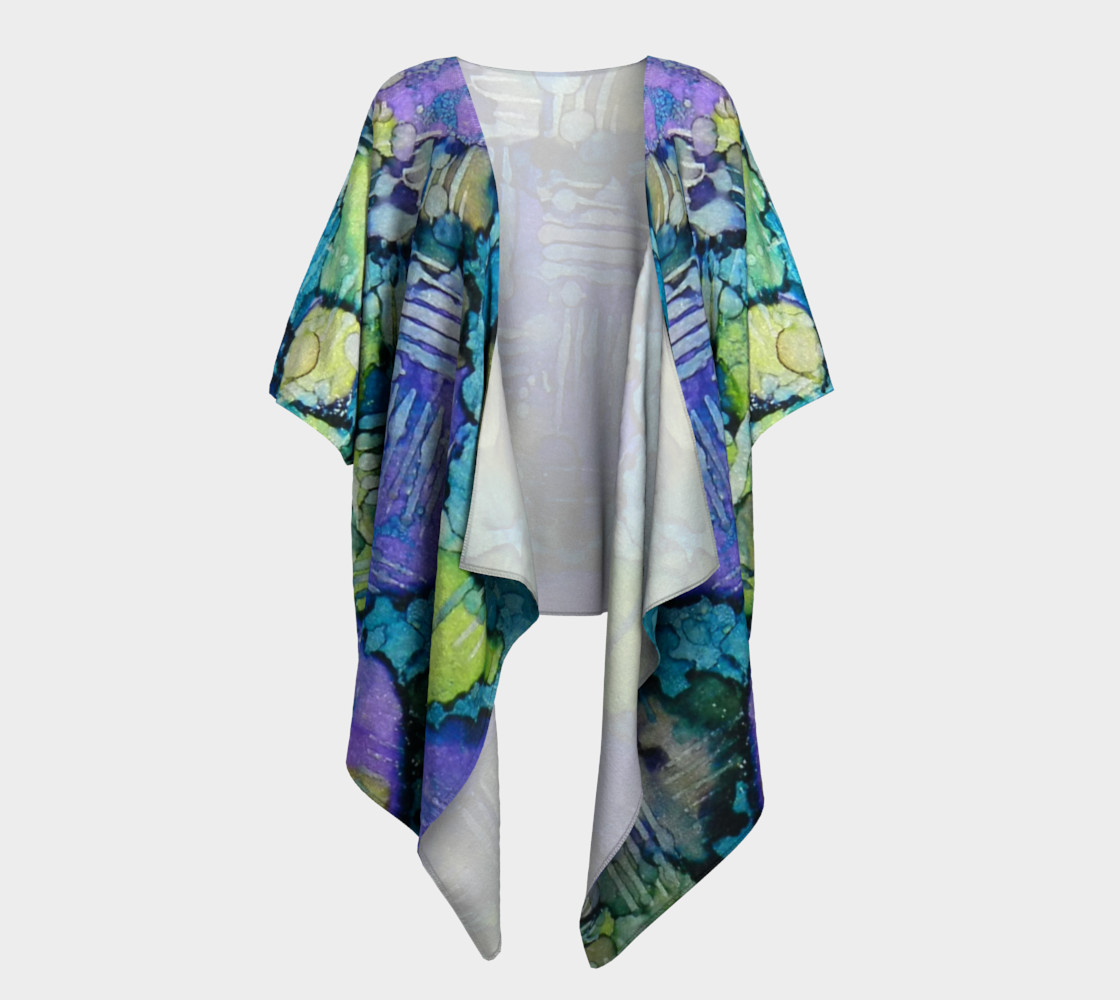Spring Weave Ink #4 Drapaed Kimono preview #1
