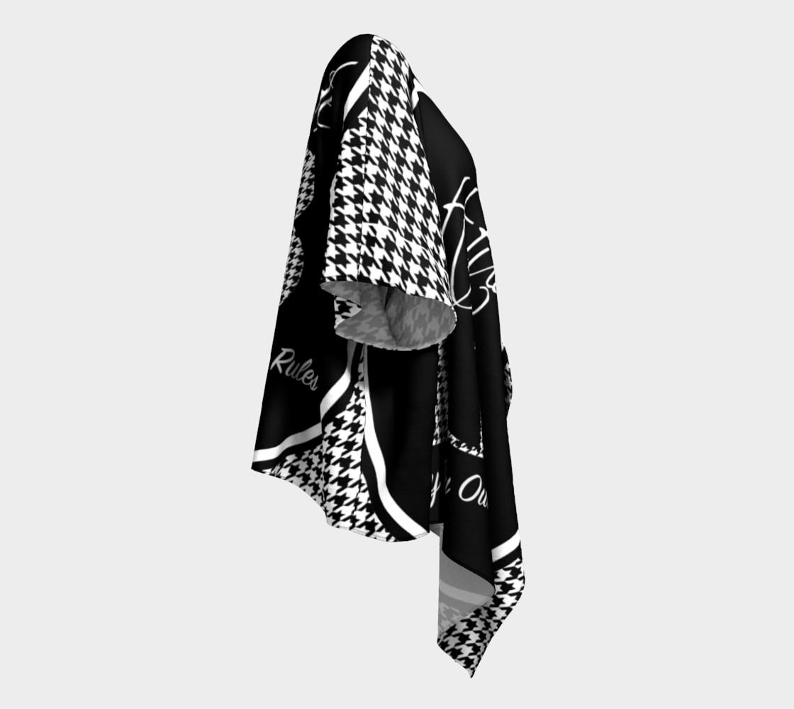 Aperçu de Attitude 13 Houndstooth Draped Kimono  #3