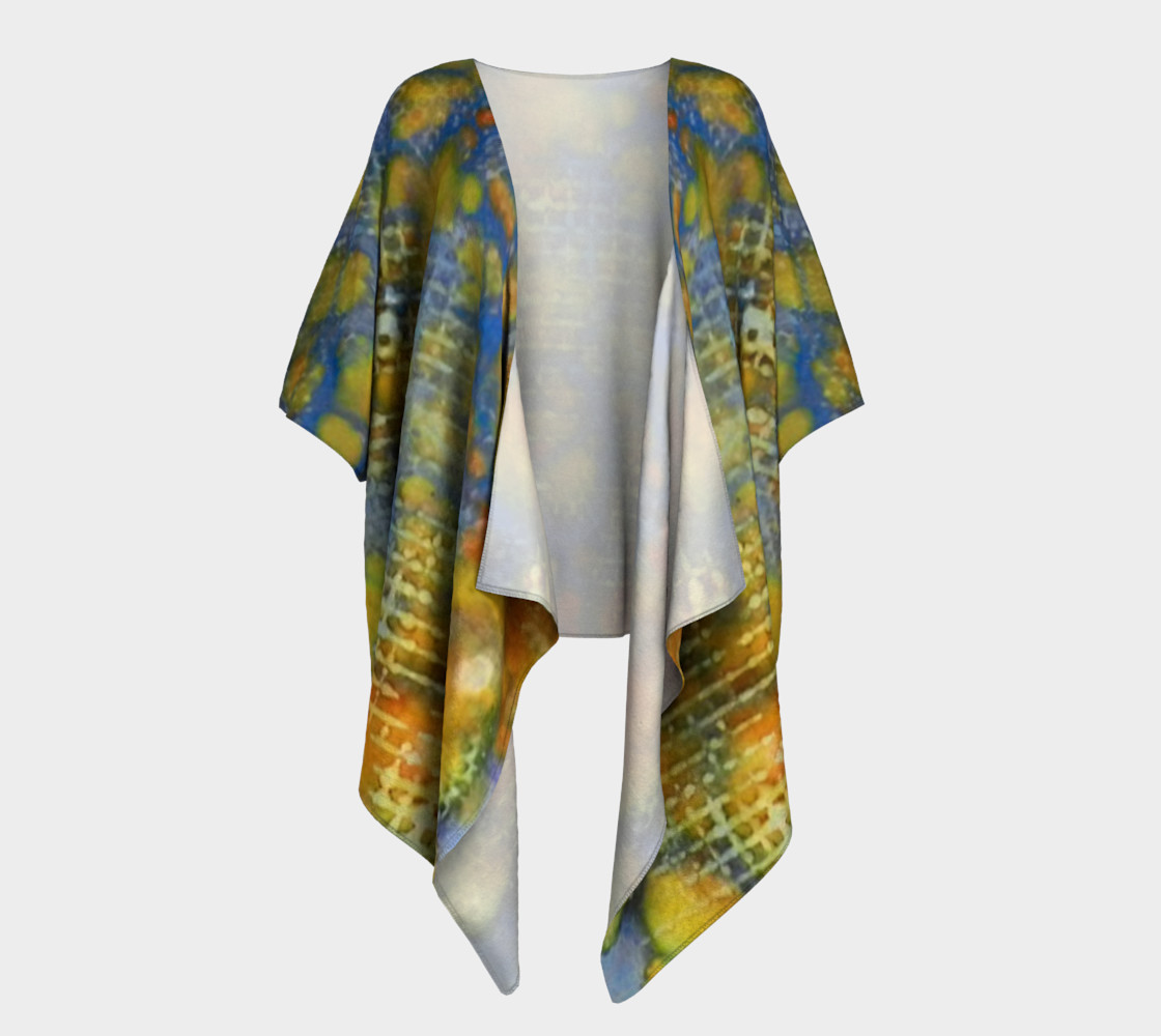 Window Into Summer Ink # 17 Draped Kimono 3D preview