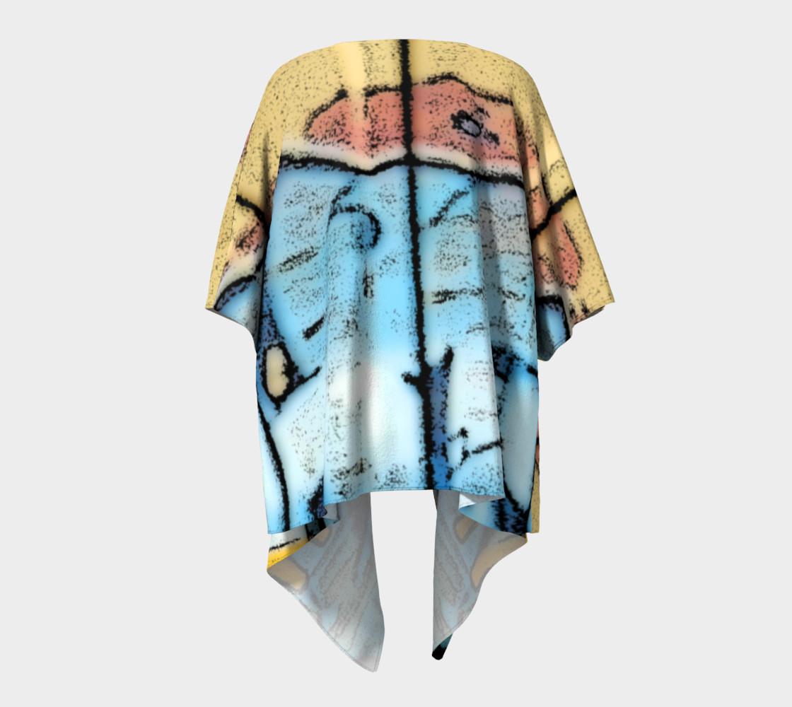 Train Grafitti #1 Draped Kimono preview #4
