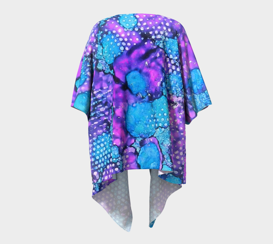 Violet Clouds Ink #24 Draped Kimono preview #4