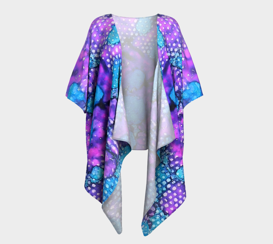Violet Clouds Ink #24 Draped Kimono preview #1