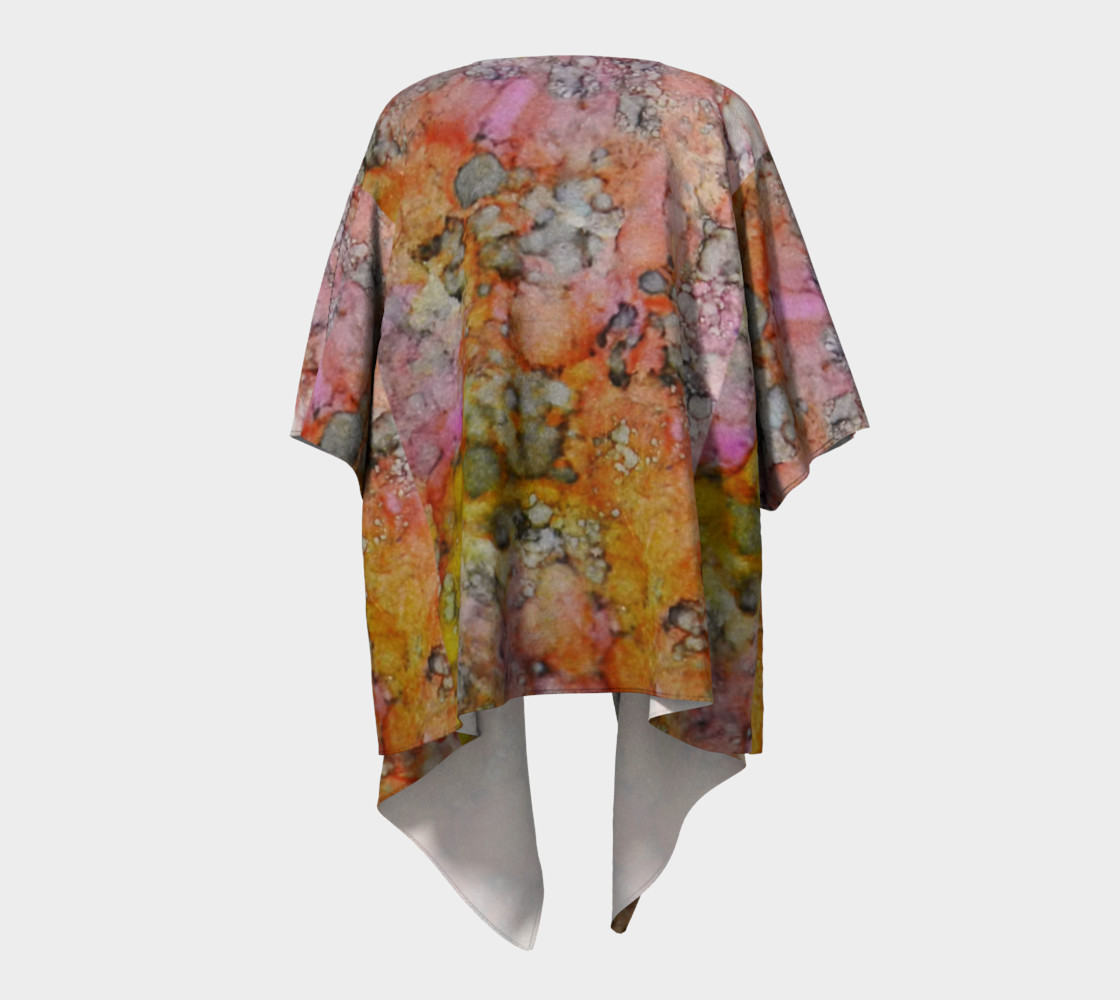 Carnival Glass Ink #27 Crop Top Draped Kimono preview #4