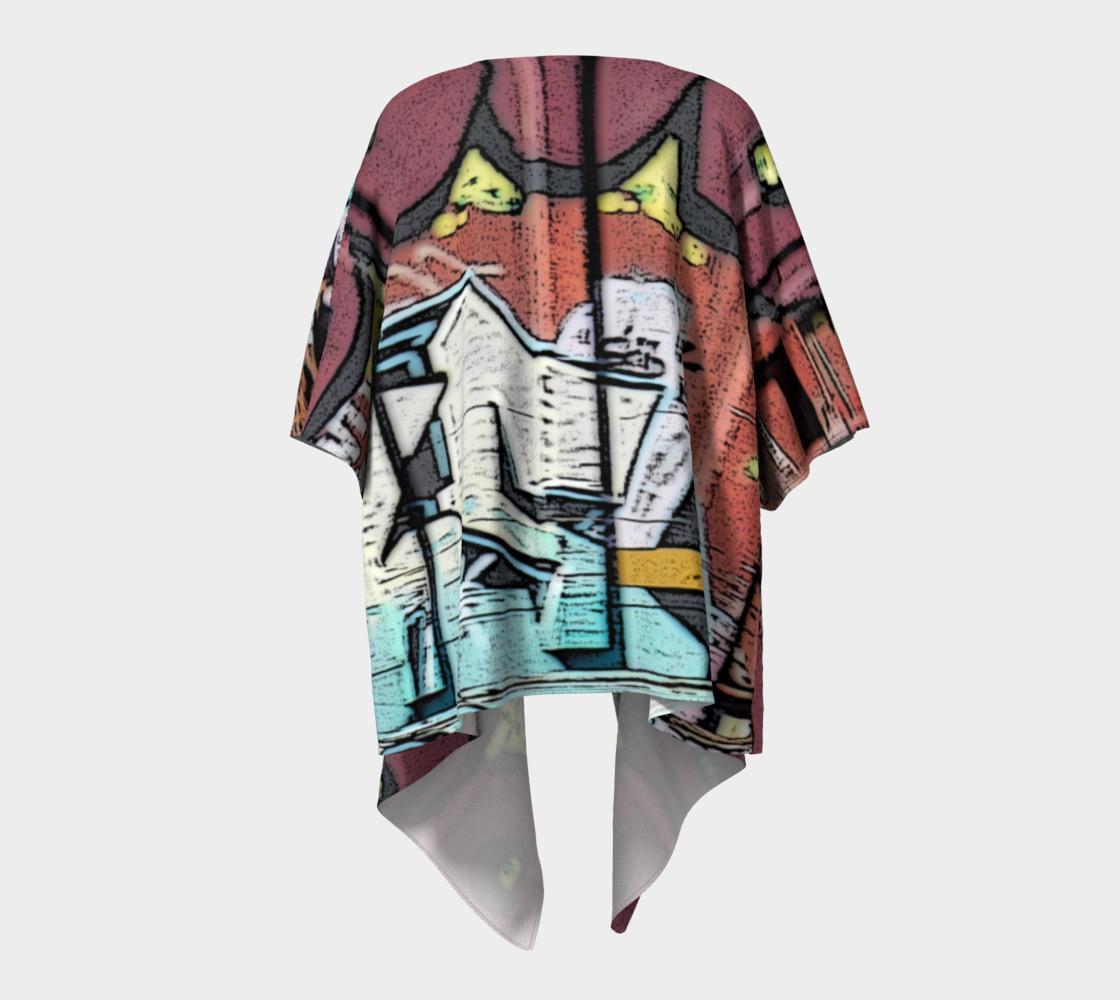 Grafitti Train #3 Draped Kimono preview #4