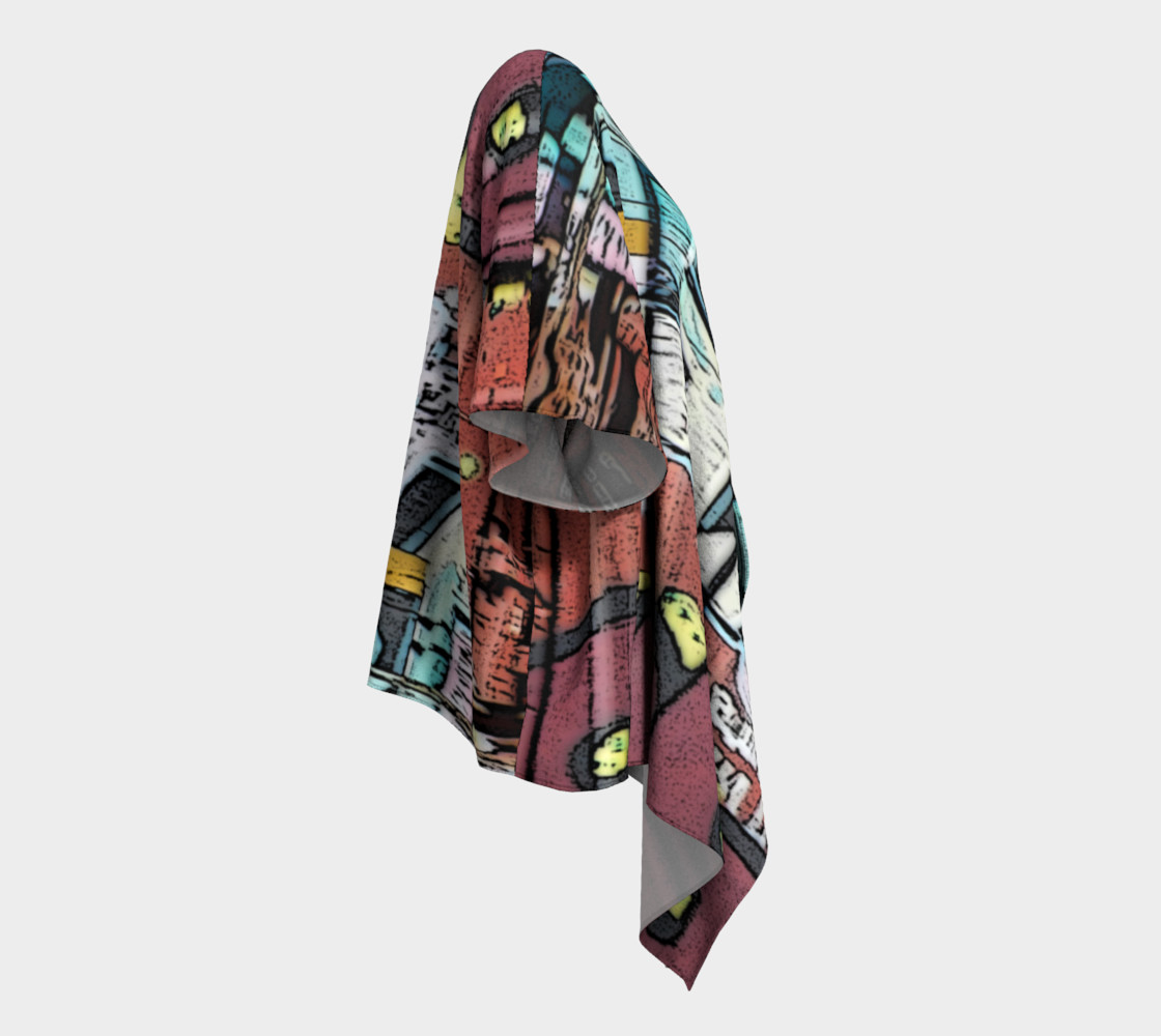 Grafitti Train #3 Draped Kimono preview #3