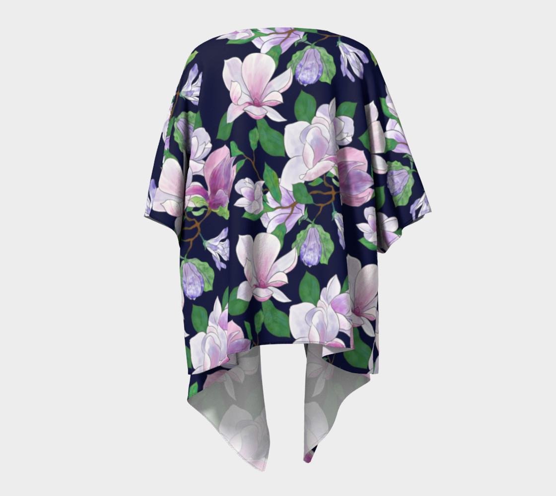 Magnolia Floral Frenzy Draped Kimono preview #4