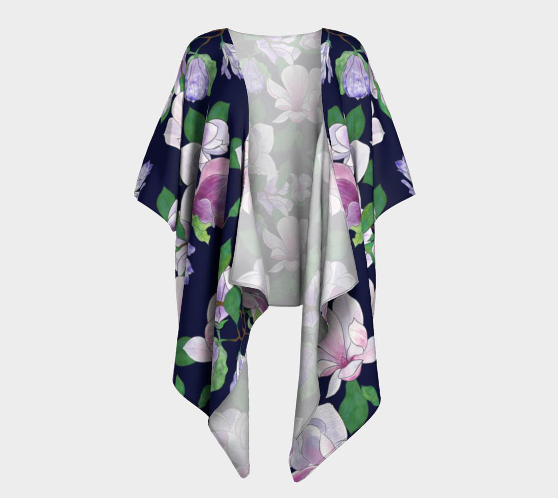 Magnolia Floral Frenzy Draped Kimono preview #1