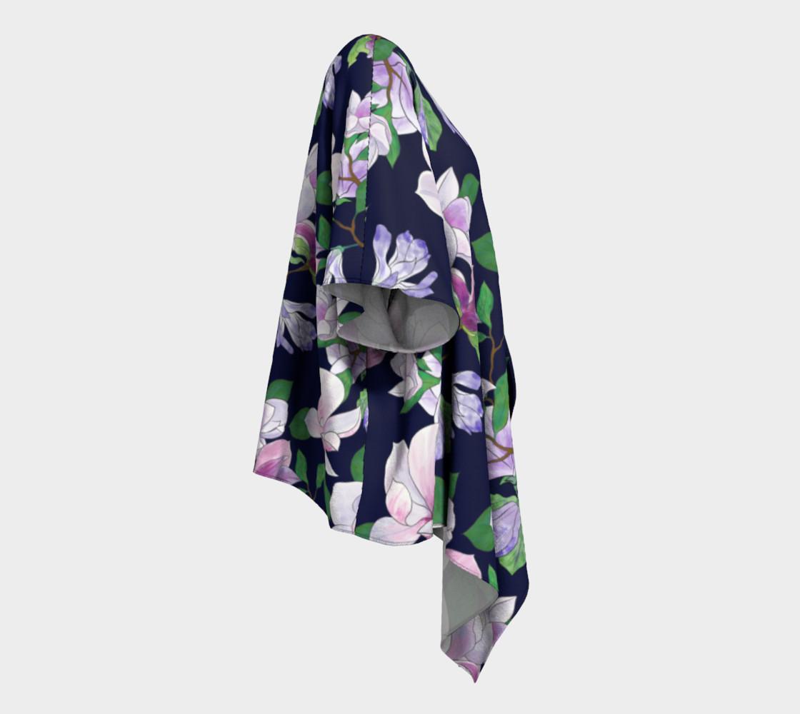 Magnolia Floral Frenzy Draped Kimono preview #3