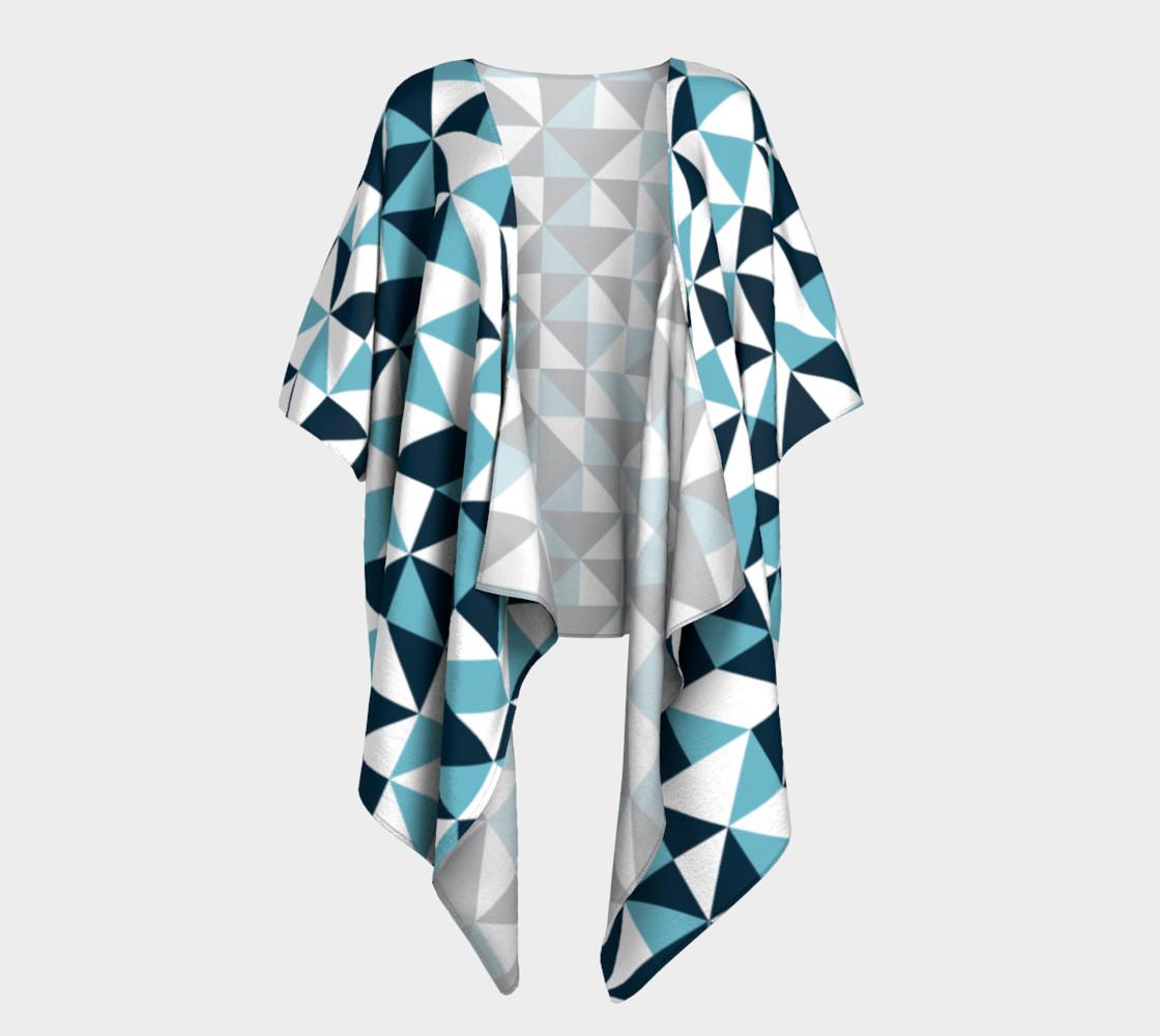 Blue Triangles Draped Kimono preview #1