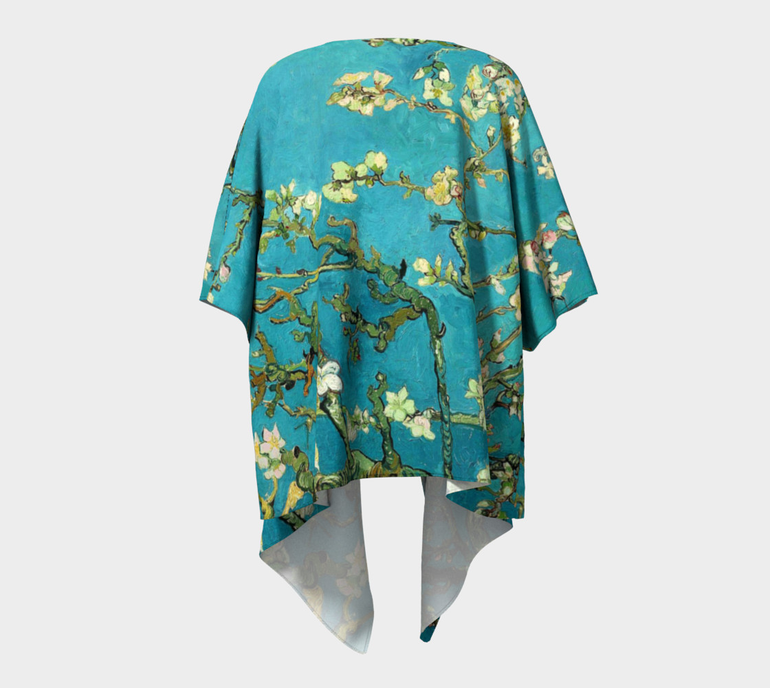 Vincent Van Gogh Blossoming Almond Tree Draped Kimono  preview #4
