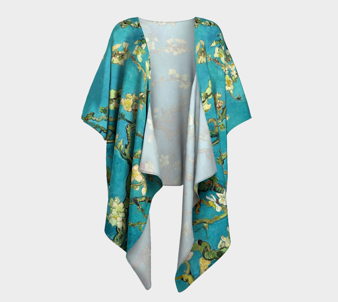 Vincent Van Gogh Blossoming Almond Tree Draped Kimono  preview #1