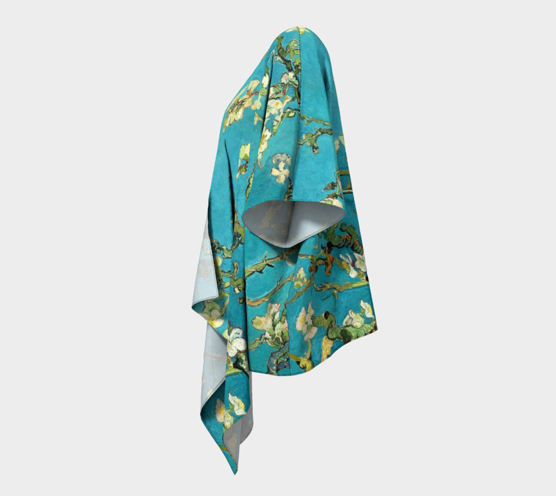 Vincent Van Gogh Blossoming Almond Tree Draped Kimono  preview #2