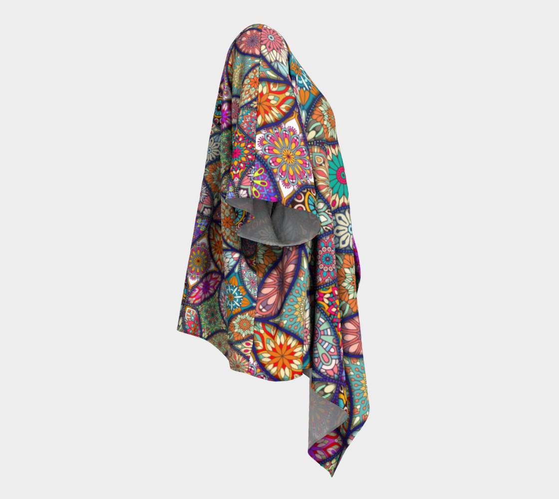Aperçu de Vibrant Mandalas Draped Kimono #3