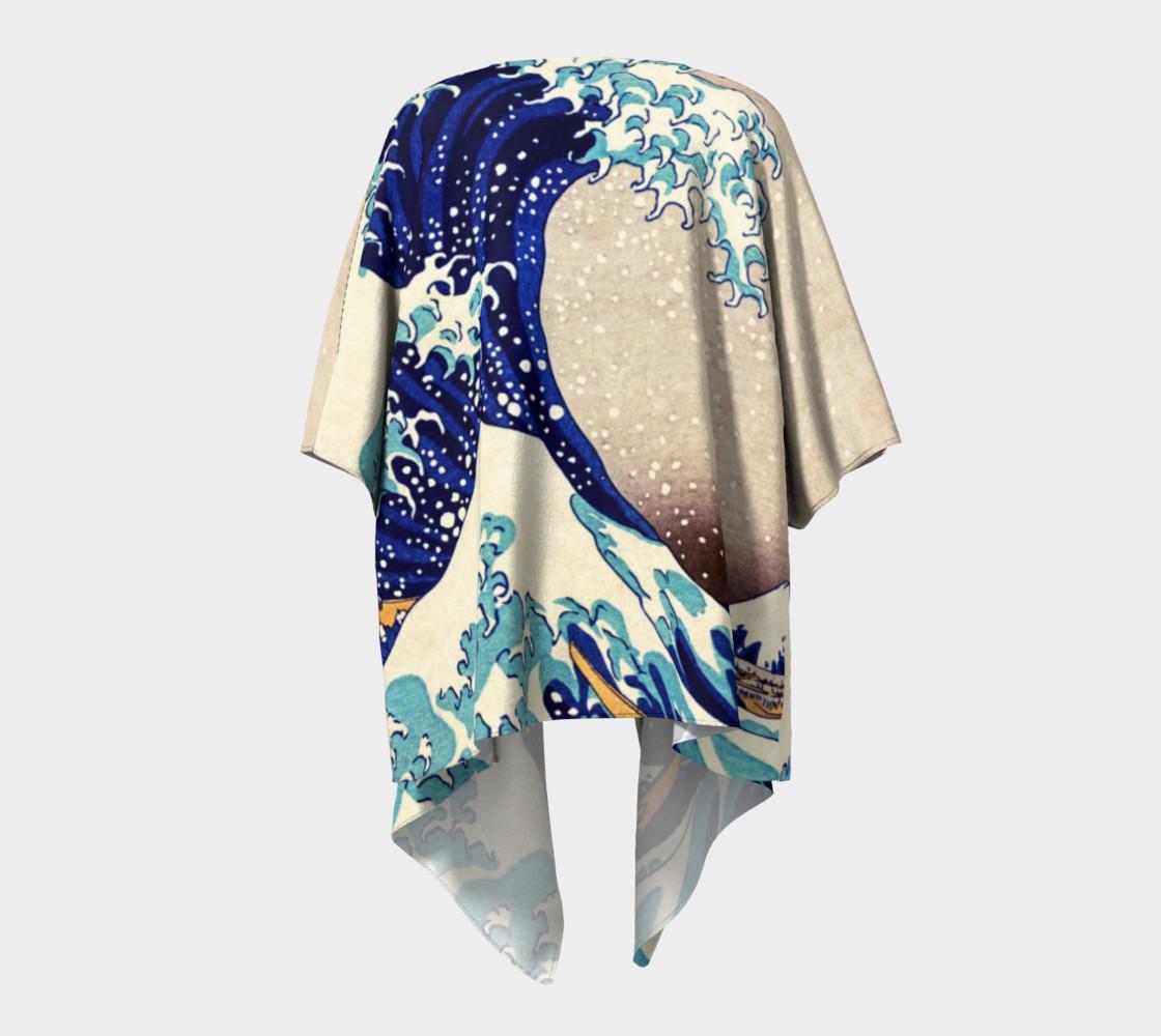 Katsushika Hokusai The Great Wave Off Kanagawa Draped Kimono  preview #4