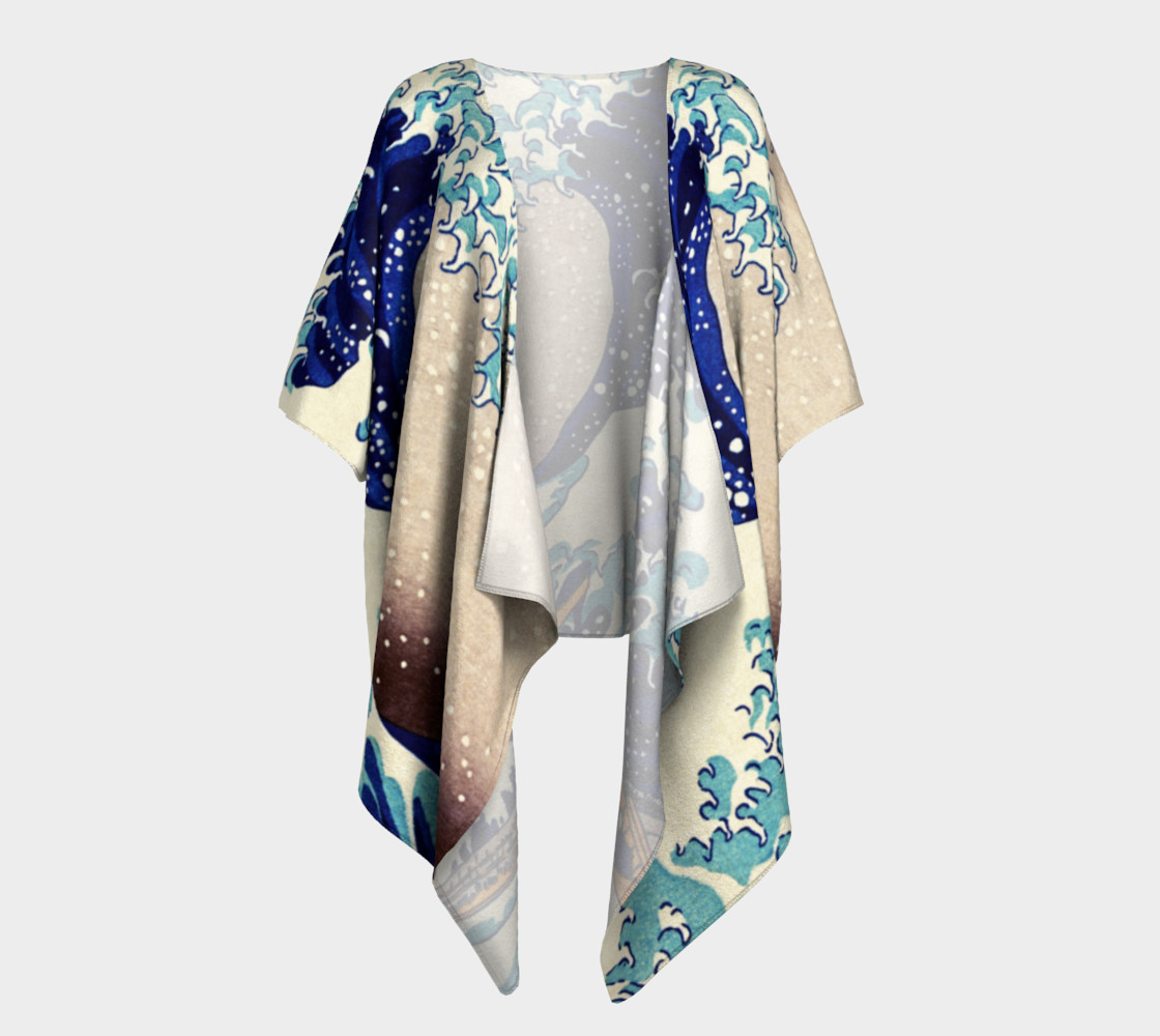 Katsushika Hokusai The Great Wave Off Kanagawa Draped Kimono  preview #1