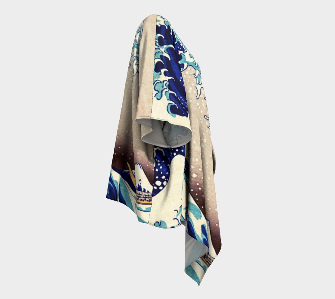 Katsushika Hokusai The Great Wave Off Kanagawa Draped Kimono  preview #3